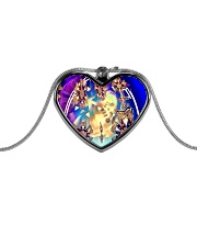 Oddball Holiday Metallic Heart Necklace front
