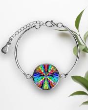 Vibe Zero Metallic Circle Bracelet aos-bracelet-metal-front-lifestyle-4