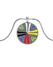 Calling the Directions Metallic Circle Necklace thumbnail