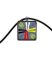 Calling the Directions Cord Rectangle Necklace front