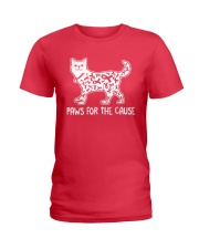Paws For The Cause Ladies T-Shirt thumbnail