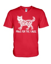 Paws For The Cause V-Neck T-Shirt thumbnail