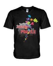 Puzzle V-Neck T-Shirt thumbnail