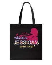 JESSICA NAME Tote Bag thumbnail