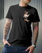 Shiba Inu in Pocket Classic T-Shirt lifestyle-mens-crewneck-front-6