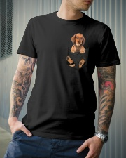 Dachshund in Pocket Classic T-Shirt lifestyle-mens-crewneck-front-6