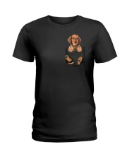Dachshund in Pocket Ladies T-Shirt thumbnail
