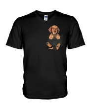 Dachshund in Pocket V-Neck T-Shirt thumbnail