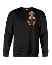 Dachshund in Pocket Crewneck Sweatshirt thumbnail