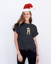 Golden in Pocket Classic T-Shirt lifestyle-holiday-crewneck-front-1