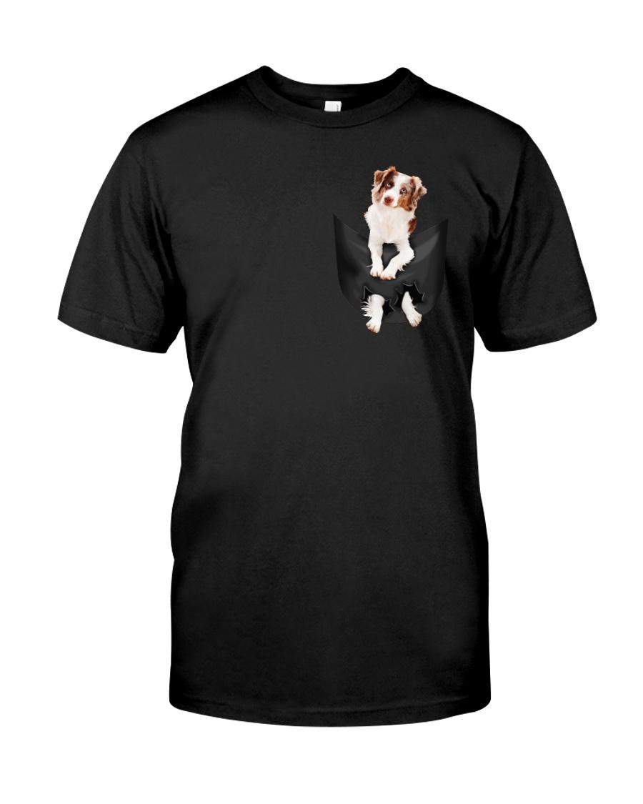 Australian Shepherd in Pocket Classic T-Shirt showcase