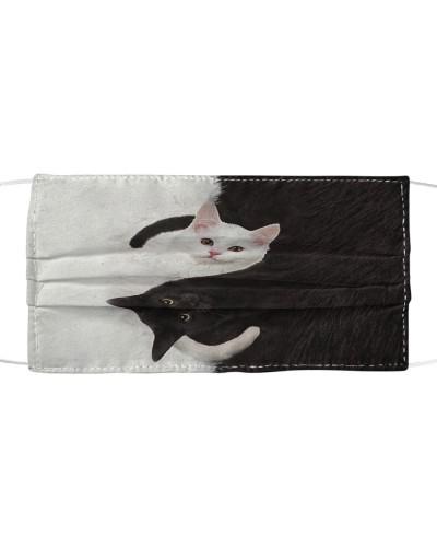 Cat - Yin Yang - Cloth face mask