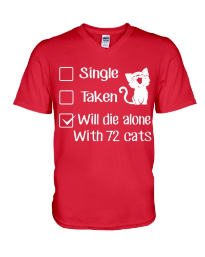Will die alone with 72 Cats
