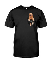 Golden Retriever in Pocket Classic T-Shirt front