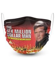 SIX MILLION DOLLATR MAN 2 Layer Face Mask - Single thumbnail