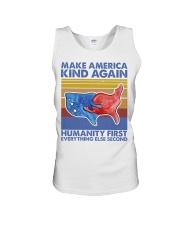 Make America Kind Again Humanity First Unisex Tank thumbnail