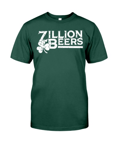 Zillion Beers Shamrock St Patrick's Day Shirt