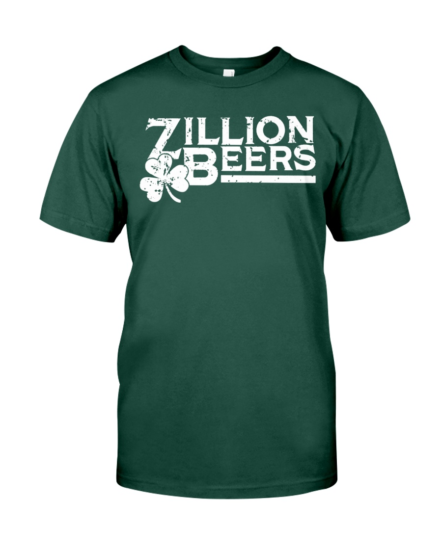 Zillion Beers Shamrock St Patrick's Day Shirt Premium Fit Mens Tee