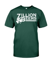 Zillion Beers Shamrock St Patrick's Day Shirt Premium Fit Mens Tee front