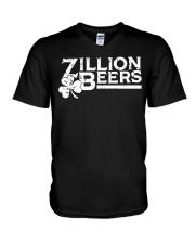 Zillion Beers Shamrock St Patrick's Day Shirt V-Neck T-Shirt thumbnail