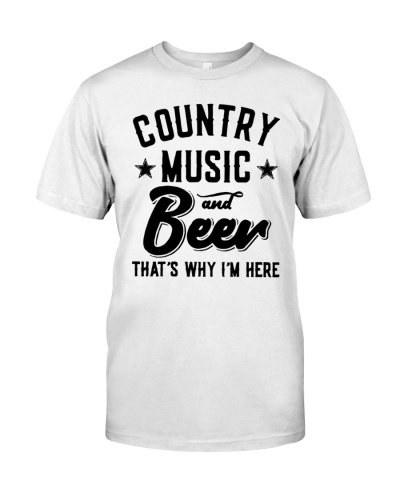 County Music and Beer T Shirt