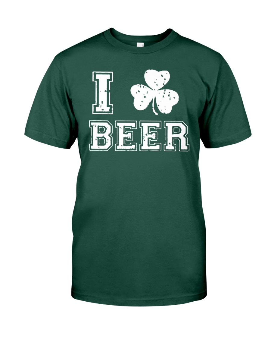 I Love Irish Beer T Shirt Premium Fit Mens Tee