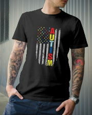 Autism Awareness Flag T Shirt Premium Fit Mens Tee lifestyle-mens-crewneck-front-6