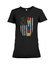 Autism Awareness Flag T Shirt Premium Fit Ladies Tee thumbnail