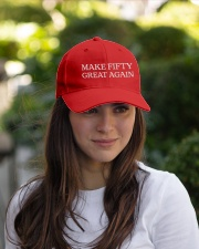 Make Fifty Great Again Hat Embroidered Hat garment-embroidery-hat-lifestyle-07