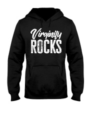 Virginity Rocks T Shirt Hooded Sweatshirt thumbnail