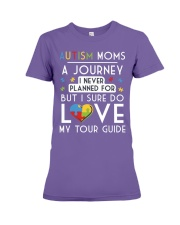 Autism Mom Shirt Autism Mom A Journey Of Love Premium Fit Ladies Tee thumbnail