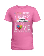 Autism Mom Shirt Autism Mom A Journey Of Love Ladies T-Shirt thumbnail