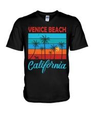 VENICE BEACH CALIFORNIA V-Neck T-Shirt front
