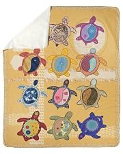 """Turtle  Sherpa Fleece Blanket - 50"""" x 60"""" front"""
