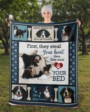 "Bernese Mountain Dog  Sherpa Fleece Blanket - 50"" x 60"" aos-sherpa-fleece-blanket-50x60-lifestyle-front-13b"