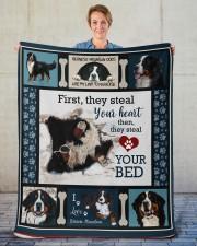 "Bernese Mountain Dog  Sherpa Fleece Blanket - 50"" x 60"" aos-sherpa-fleece-blanket-50x60-lifestyle-front-16"
