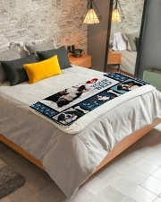 "Bernese Mountain Dog  Sherpa Fleece Blanket - 50"" x 60"" aos-sherpa-fleece-blanket-lifestyle-front-01"