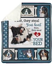 "Bernese Mountain Dog  Sherpa Fleece Blanket - 50"" x 60"" front"