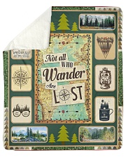 "Camping  Sherpa Fleece Blanket - 50"" x 60"" front"