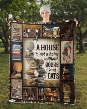 "Book Sherpa Fleece Blanket - 50"" x 60"" aos-sherpa-fleece-blanket-50x60-lifestyle-front-13b"