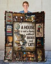"Book Sherpa Fleece Blanket - 50"" x 60"" aos-sherpa-fleece-blanket-50x60-lifestyle-front-16"