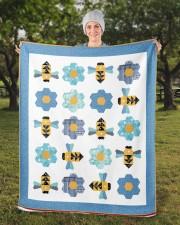 "Busy Bees Sherpa Fleece Blanket - 50"" x 60"" aos-sherpa-fleece-blanket-50x60-lifestyle-front-13b"