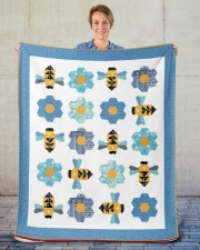 "Busy Bees Sherpa Fleece Blanket - 50"" x 60"" aos-sherpa-fleece-blanket-50x60-lifestyle-front-16"