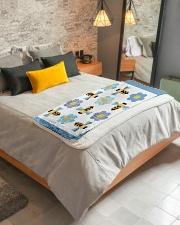 "Busy Bees Sherpa Fleece Blanket - 50"" x 60"" aos-sherpa-fleece-blanket-lifestyle-front-01"