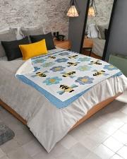 "Busy Bees Sherpa Fleece Blanket - 50"" x 60"" aos-sherpa-fleece-blanket-lifestyle-front-02"
