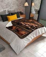 """Horse  Sherpa Fleece Blanket - 50"""" x 60"""" aos-sherpa-fleece-blanket-lifestyle-front-02"""