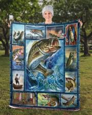 "Fish  Sherpa Fleece Blanket - 50"" x 60"" aos-sherpa-fleece-blanket-50x60-lifestyle-front-13b"