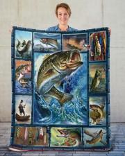 "Fish  Sherpa Fleece Blanket - 50"" x 60"" aos-sherpa-fleece-blanket-50x60-lifestyle-front-16"