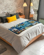 "Fish  Sherpa Fleece Blanket - 50"" x 60"" aos-sherpa-fleece-blanket-lifestyle-front-01"