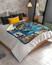 "Fish  Sherpa Fleece Blanket - 50"" x 60"" aos-sherpa-fleece-blanket-lifestyle-front-02"